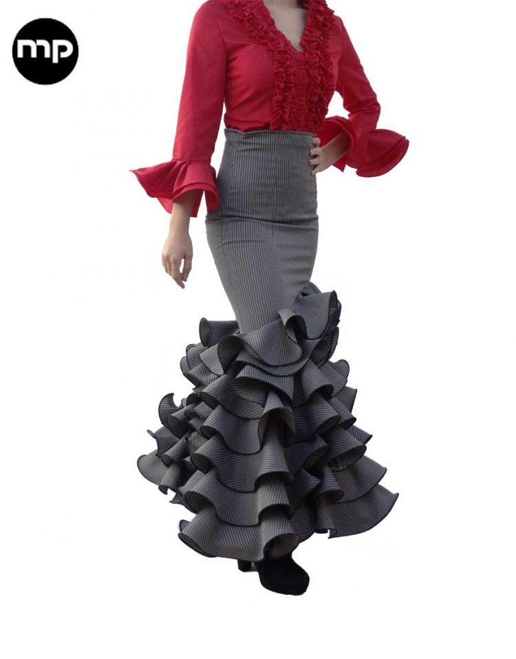 faldas camperas de rayas