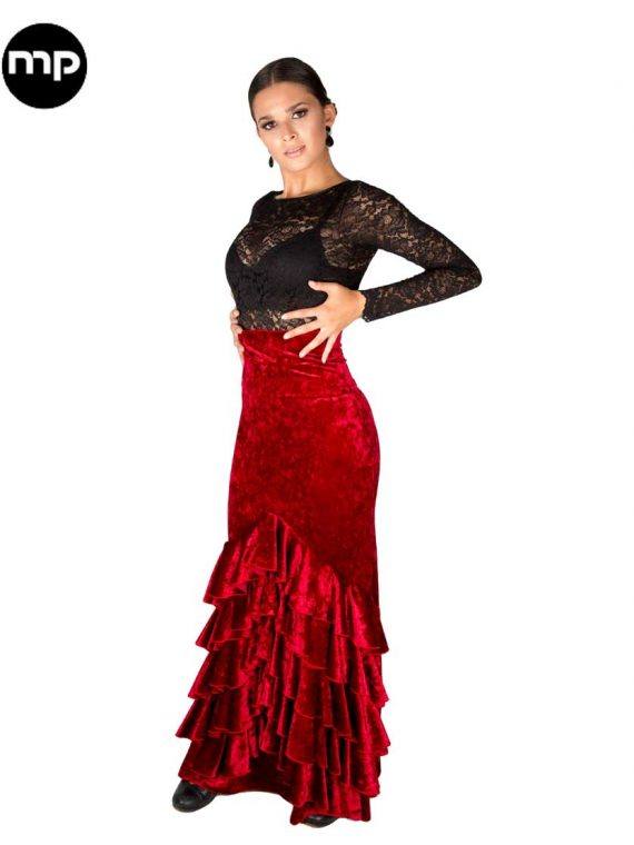 falda-flamenca-terciopelo