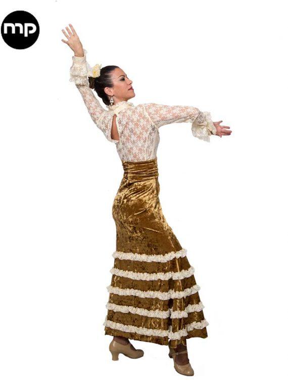 faldas flamencas de terciopelo