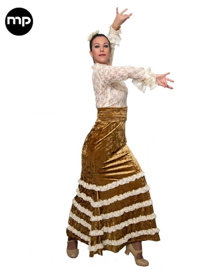 falda flamenco terciopelo