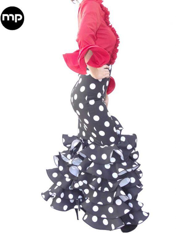 falda de flamenco negra