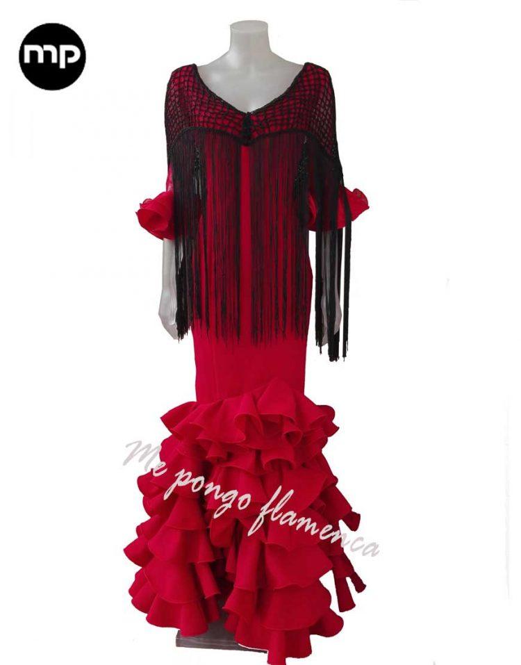 vestido flamenca rojo