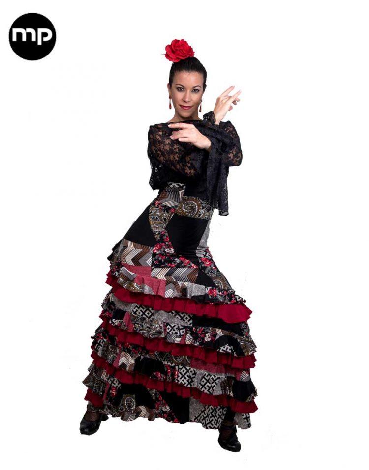 falda flamenco patchwork