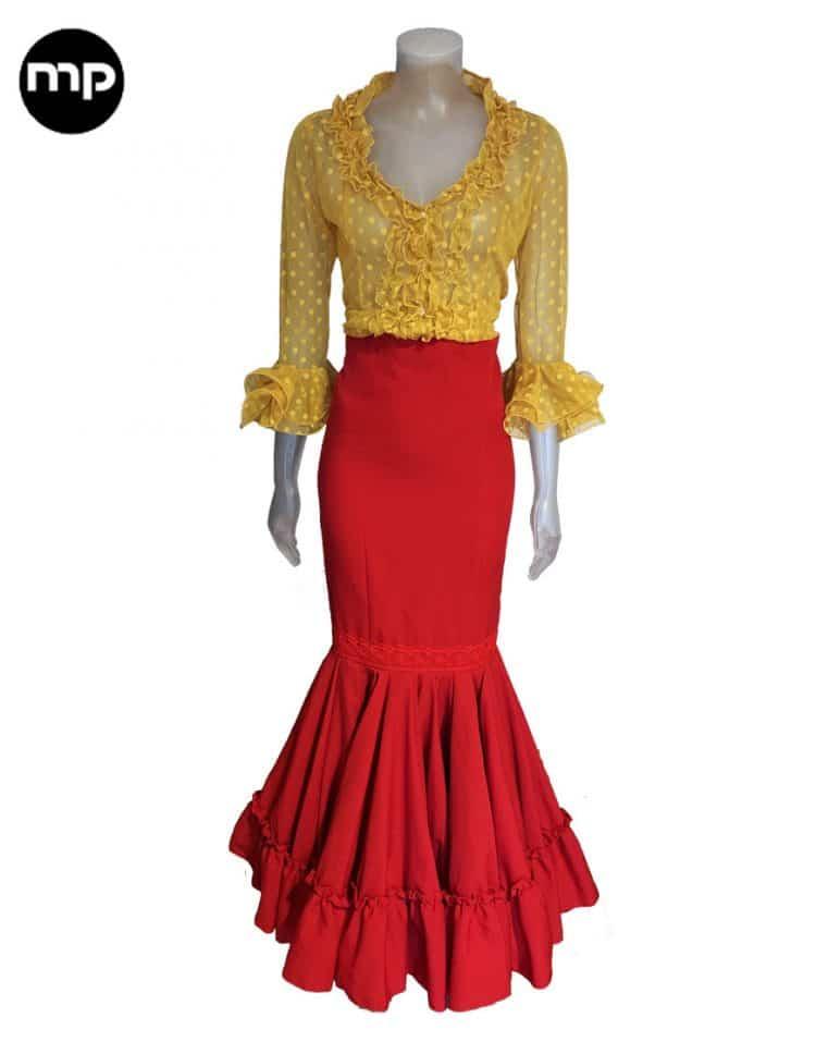 falda flamenca exclusiva