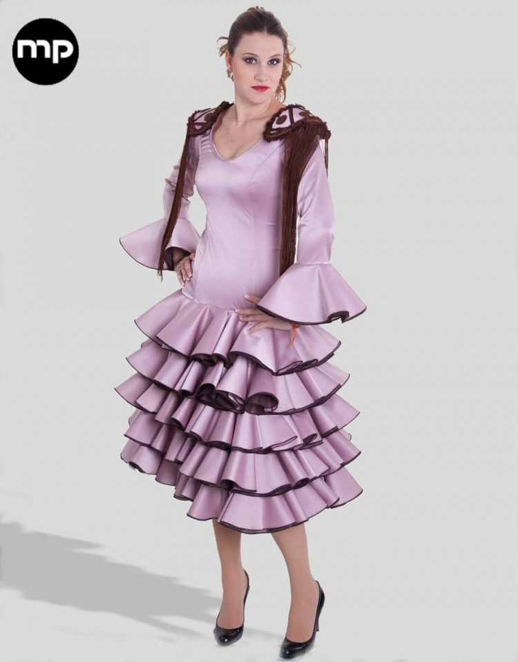 vestido de flamenca corto