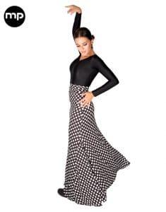falda de baile flamenco lunar