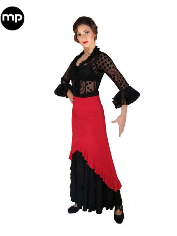 sobre falda flamenca