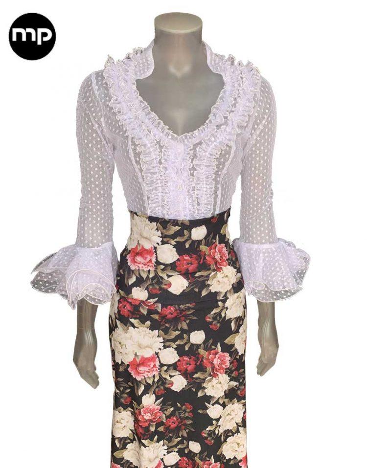 camisa flamenca volantes
