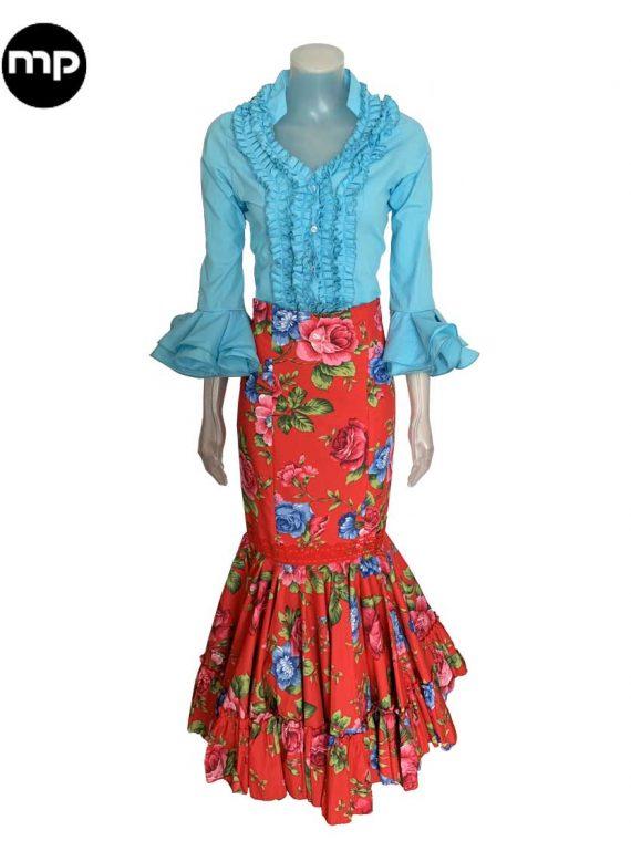 camisa flamenca azul