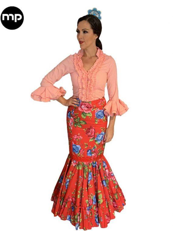 falda flamenca flores
