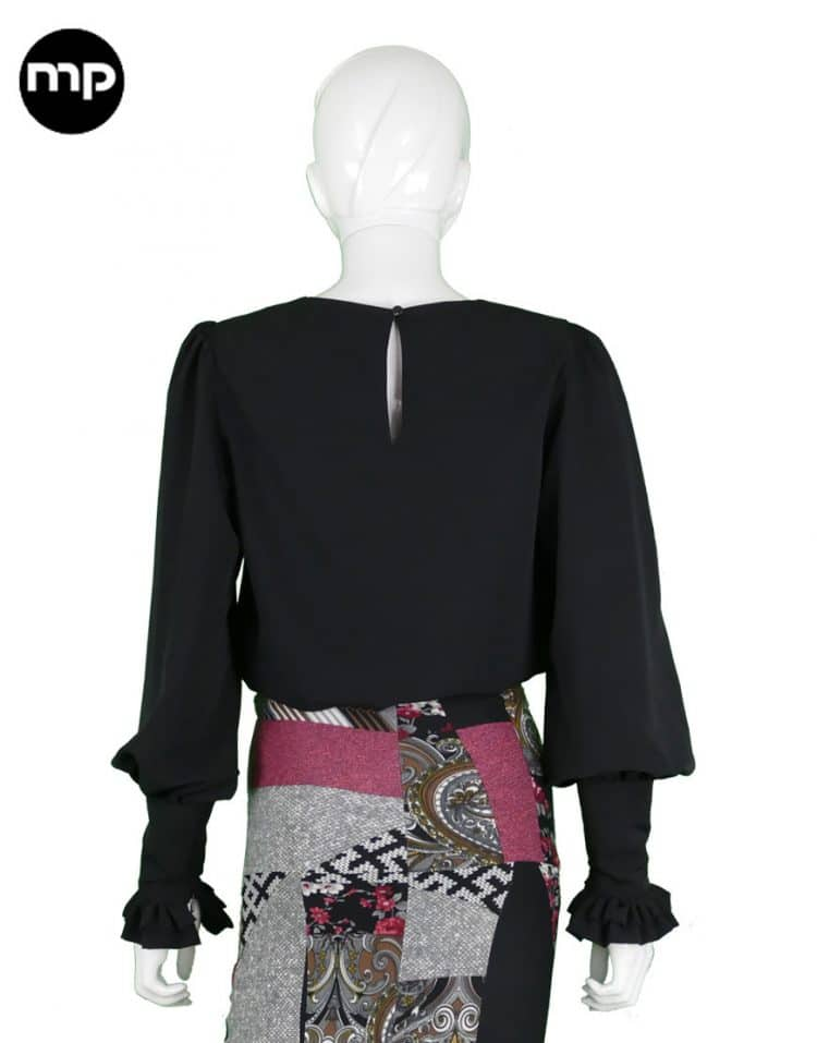 blusas flamencas negras