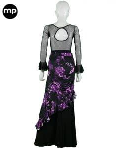 falda flamenca corta mujer