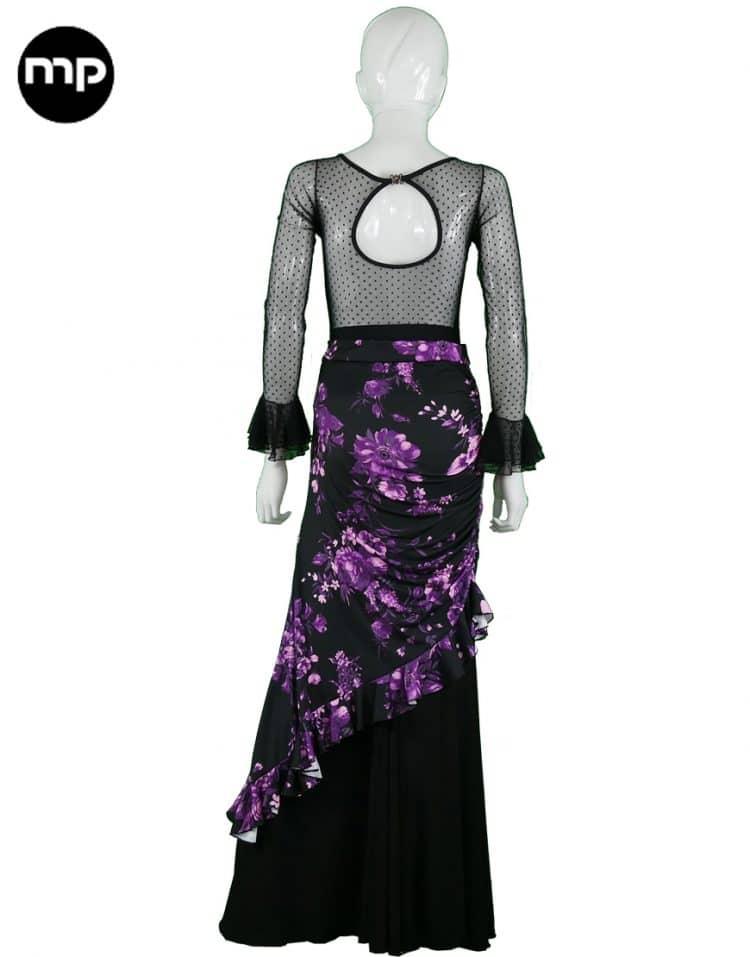 falda ensayo flamenco corta